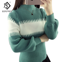 Women Sweaters Lantern Sleeves Solid Warm Turtleneck Winter Vintage Knitted Pullovers White Sweaters Tops 6 Colors