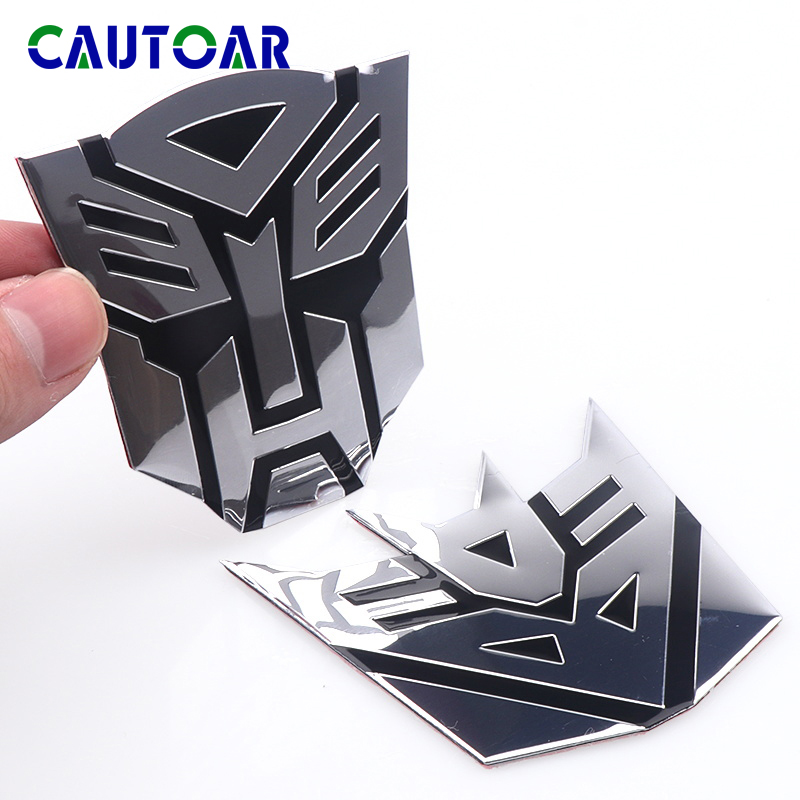 Car Styling 3D Aluminum Alloy Autobot Transformers Car Badge Rear Emblem Sticker For Mobile Phone Laptop Fashion Decoration