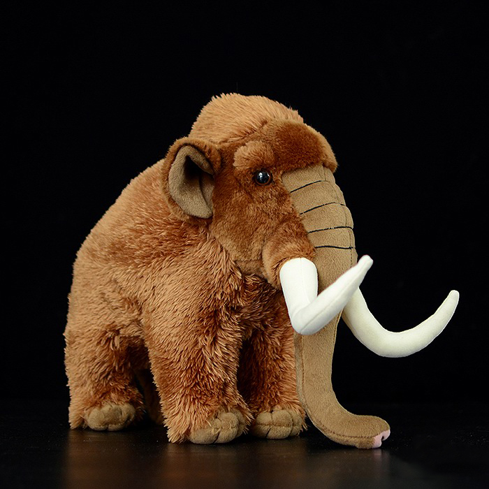 Huggable Mammoths Stuffed Toys Simulation Mammoth Plush Toy Soft Elephant Stuffed Dolls For Children Birthday Gifts 38cm plush whales toys with soft pp cotton creative stuffed animal dolls cute whales toys fish birthday gift for children