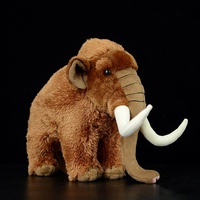 Huggable Mammoths Stuffed Toys Simulation Mammoth Plush Toy Soft Elephant Stuffed Dolls For Children Birthday Gifts