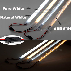 Image 3 - Hot pin Kitchen light expert 220V 2835 LED Hard Rigid LED Strip Bar Light +U Auminium+ Cover Led Rigid Strip Indoor Under Cabine