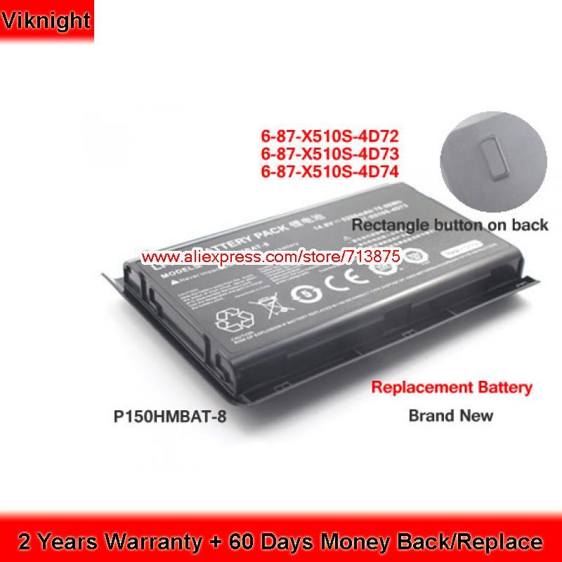 P150SM P151SM1 P150EM P150HMBAT-8 Clevo Laptop Battery 5200mAh
