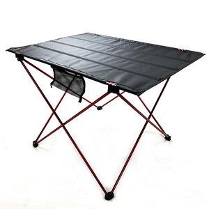 Image 2 - 328 프로 모션 휴대용 접이식 접이식 테이블 데스크 캠핑 야외 피크닉 6061 알루미늄 합금 초경량