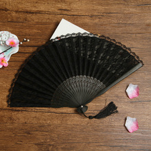 Summer Folding Fan Dance Party Flower Printing  High Quality Home Decoration Crafts 29