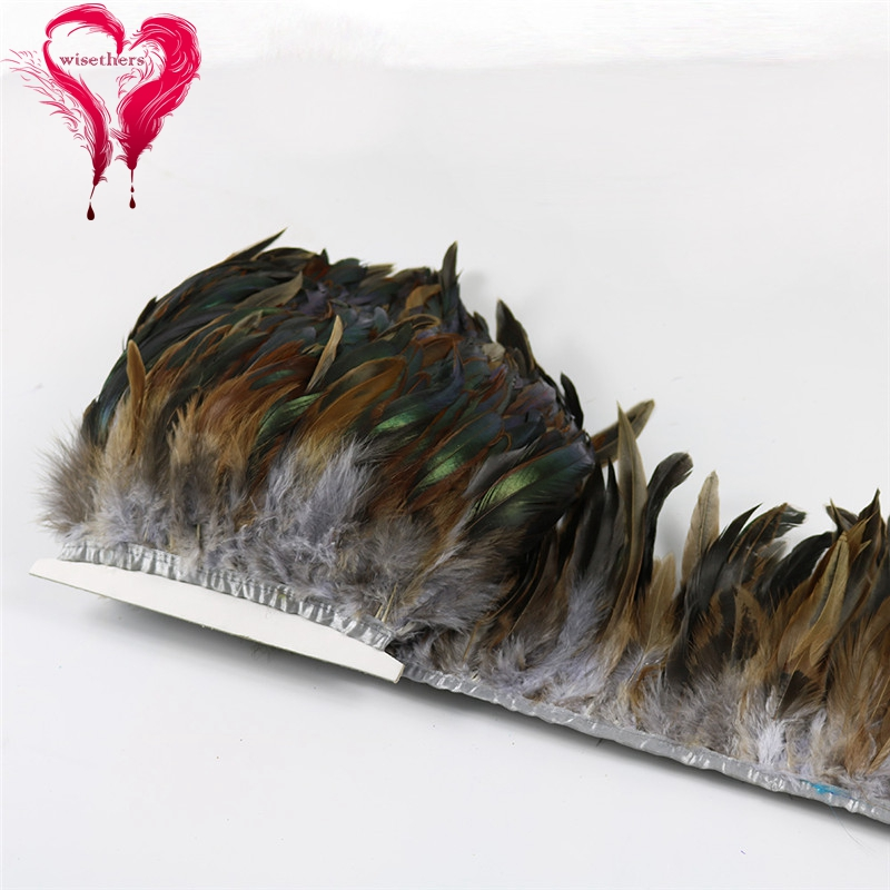 14 gray rooster feather trims 4