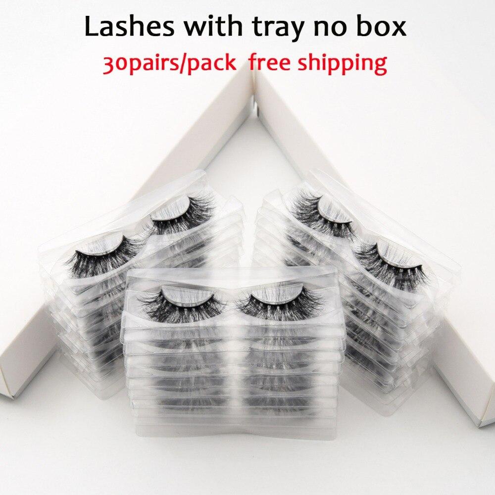 30 pairs pack Visofree Lashes 3D Mink Eyelashes Full Strip Lashes Handmade Premium Mink Hair Multi