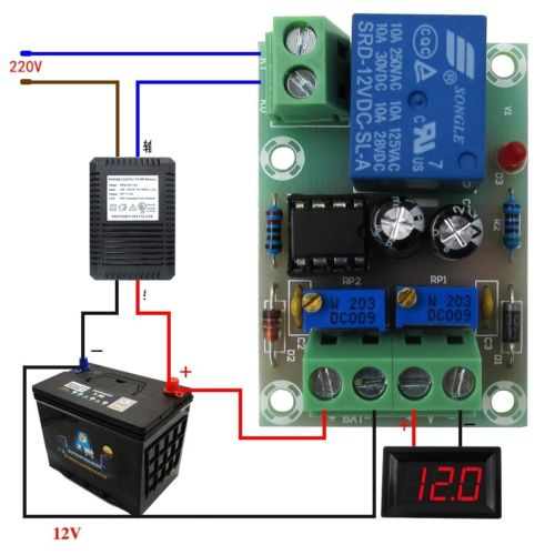 XH-M601 Battery Charging Control Power Supply Module Board Charger Power Control Panel Automatic Charging Power Module