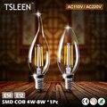 TSLEEN + Lampada Conduziu a Lâmpada 110 V 220 V Ampola E12 E14 Luz Led Bombillas Lâmpada LED Luz de Velas de Natal holofotes Lamparas