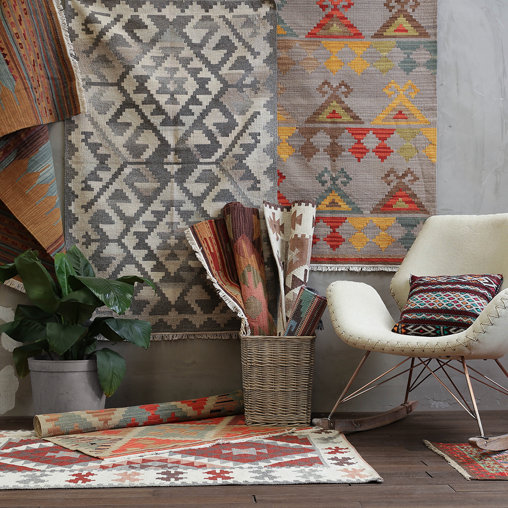 Inde manuel laine Kilim vent géométrie tapis un salon chambre thé Table pays étrangers tapis Tapestrygc193kilyg40