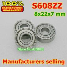 (1 pz) SUS440C corrosione ambientale in acciaio inossidabile resistente cuscinetti radiali a sfere S608ZZ 8*22*7mm