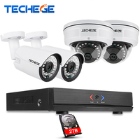 Techege 4CH POE NVR 1080P HDMI 4PCS 1 0MP IP Camera IR Weatherproof Outdoor 720P CCTV