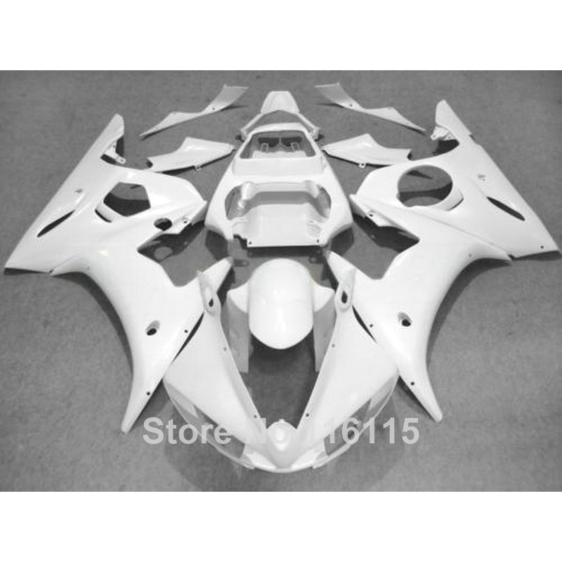100% new fairing kit for YAMAHA YZF-R6 2003 2004 2005 all white plastic fairings set YZF R6 03 04 05 CZ69