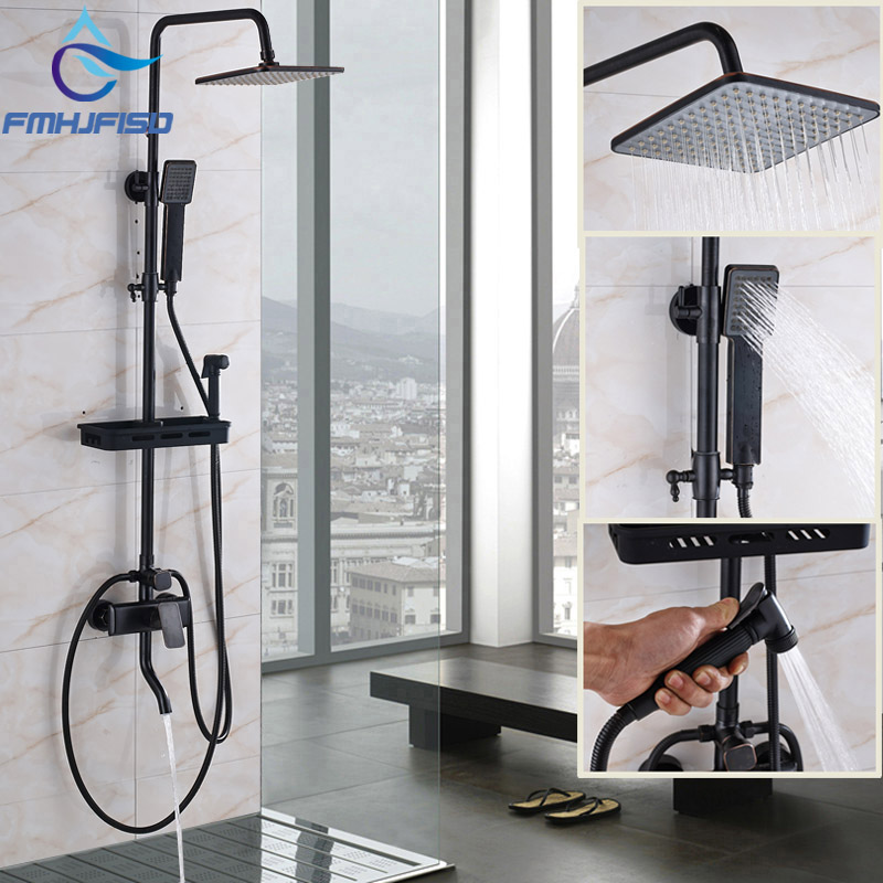 Wholesale and Retail Bathroom Oil Rubbed Bronze Shower Faucet with 8 ABS Shpwer Head