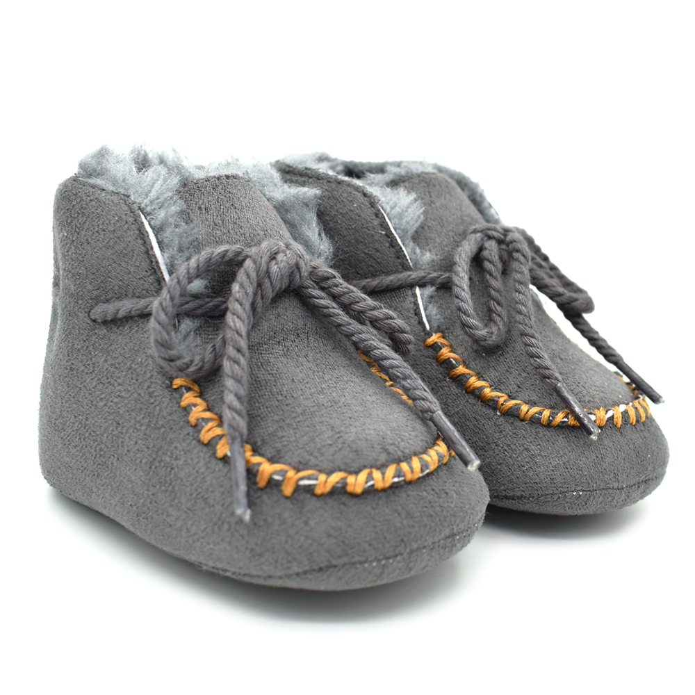 Winter Baby Moccasins Baby Boots Fleece Warm Newborn Shoes for Girl Soft Sole Crib Shoes Boy Bebes Booties Prewalker 0-18 Months