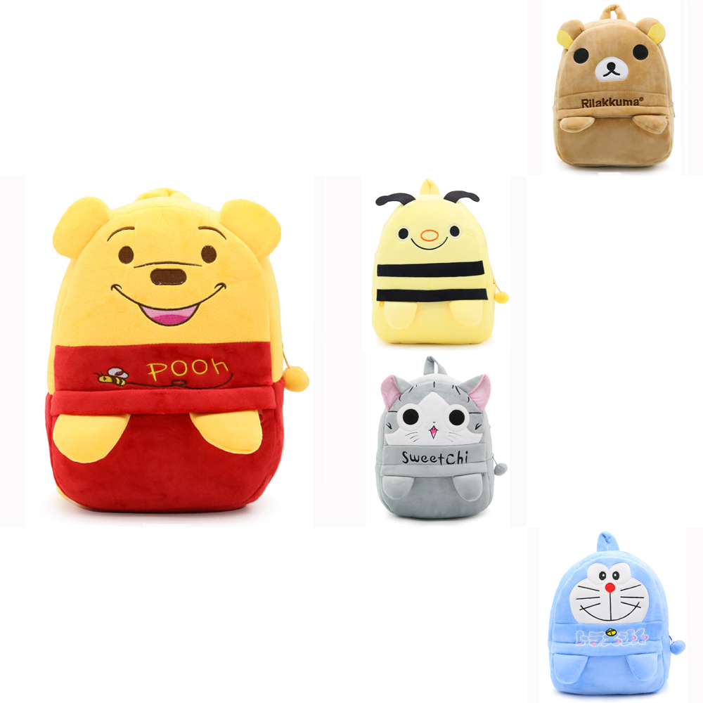 Lovely soft stereo plush backpack toys hobbies school dolls Mini children student cute gifts bags Bag clip feet