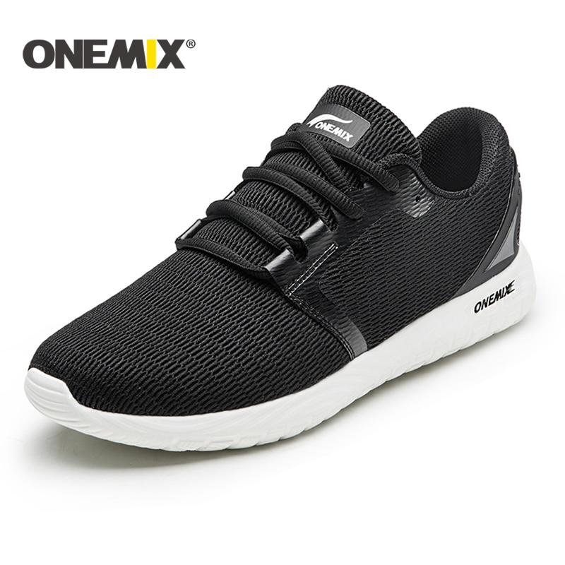 все цены на Onemix NEW running shoes unisex breathable mesh lightweight sneaker outdoor walking for men trekking shoes sports sneaker women онлайн