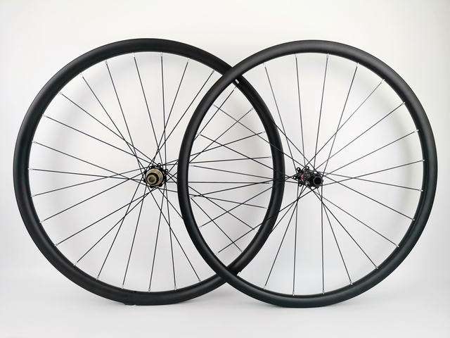 29ER Asymmetrie MTB AM/XC haakjesloze carbon wielen 30mm breedte 24mm diepte mountainbike super licht carbon wielset