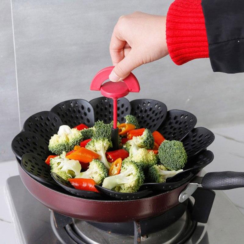 Reusable Lazy Steamer Grid Folding Lotus Shape Kitchen Cooking Steam Mat For Steamer Cooker Stuffed Bun Dumplings