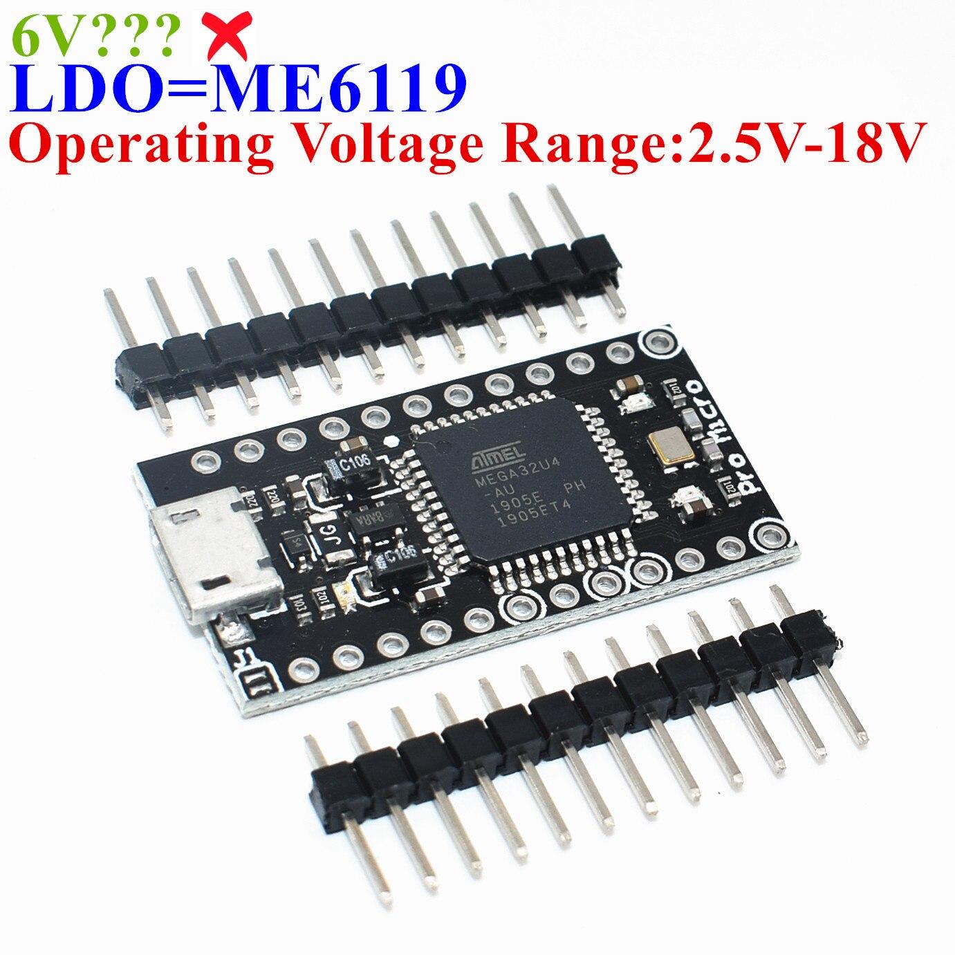 1pcs TENSTAR ROBOT With the bootloader Black Pro Micro ATmega32U4 5V/16MHz Module controller Mega32U4 leonardo for arduino Пенал