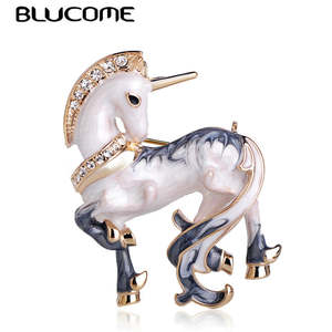 Blucome Enamel Brooches For Men Collar Animal Jewelry Pins