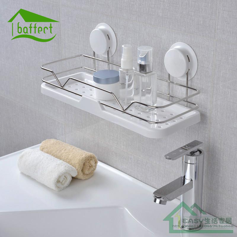 Kitchen Suction Cup Sink Drain Rack Sponge Holder Bathroom Shower Wall-mounted