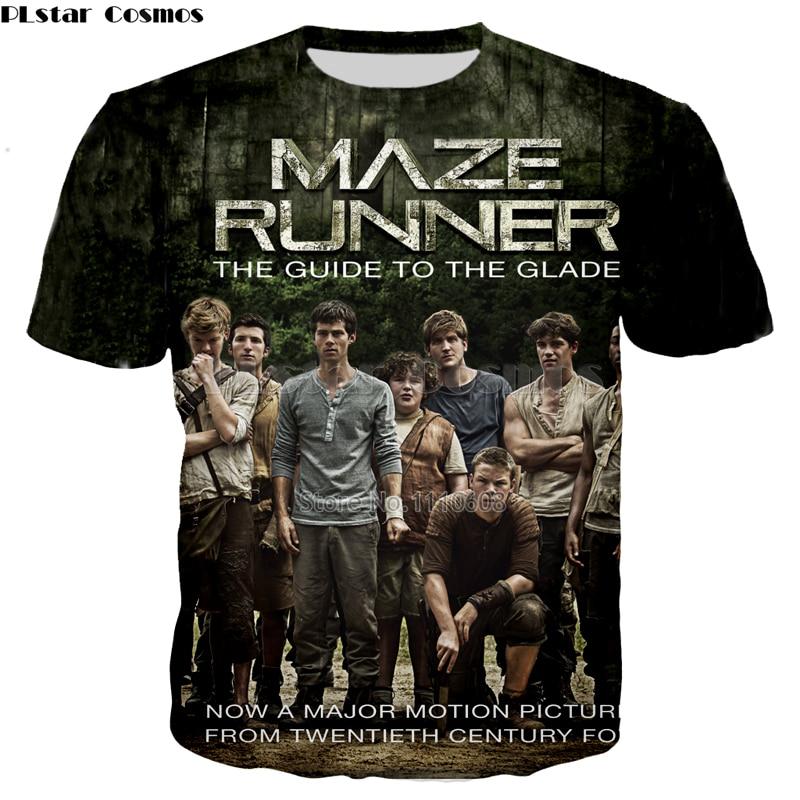 PLstar Cosmos Hot Movie The Maze Runner 3d printed T-shirt Loose men/women fashion casual tshirt free shipping Cool New Tops