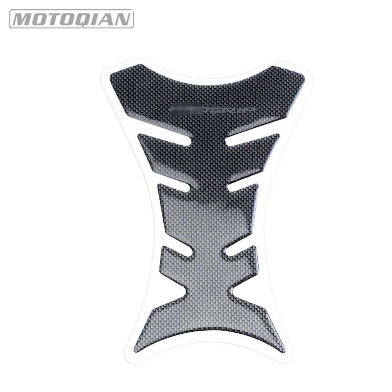 Universal 3D Carbon Fiber Motorcycle Tank Pad Protector Sticker Fish Bone Style Motorcycle Oil Tank Stickers For Kawasaki Ducati scooter parts real carbon fiber 3d tank pad protector fits for kawasaki z1000 2007 2009 carbon free shipping