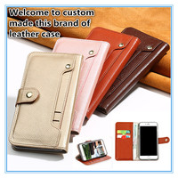 JC16 Wallet Genuine Leather Flip Case For Sony Xperia XA2(5.2') Phone Case For Sony Xperia XA2 Flip Cover With Card Holder