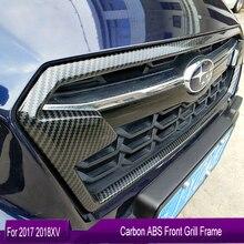 KOUVI углеродный ABS передняя решетка украшения крышка рамка отделка наклейки чехол для Subaru XV аксессуары