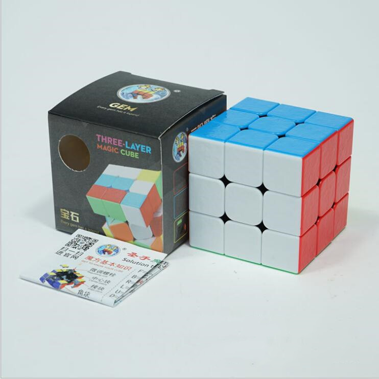 SHENGSHOU Magic Cube 3x3x3 Colorful Stickerless Puzzle Toys For Children Adults Professional Speed Cube High Quality Gift Base