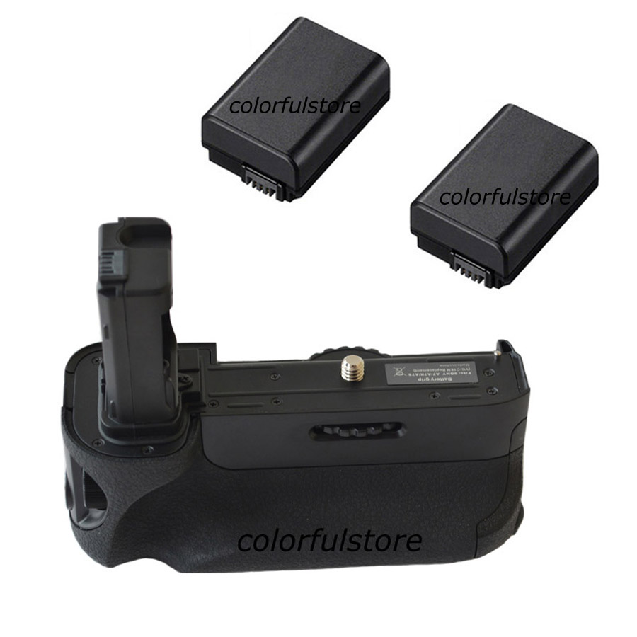 2-Step Vertical Power Shutter Battery Hand Handle Grip Holder Pack For Sony Alpha A7 A7R A7S Camera as VG-C1EM VGC1EM+2x NP-FW50