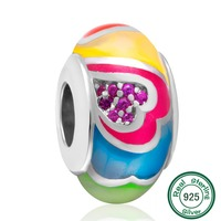 ChaWin Original Authentic 925 Sterling Silver European Style Love Bead fit for Pandora Charms Bracelets