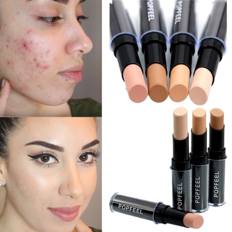 Makeup Base Eye Concealer Cream Stick Makeup Brighten Shadow Waterproof Cover Dark Circle Comestic Long-Lasting Natural 4 Color