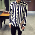 New Arrival Autunm Luxury Brand Male Shirt High Quality Mens Shirts Fashion 2016 Spring Oversized Mens Dress Shirts Hot Sale