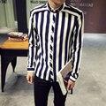 Nova Autunm Chegada Marca de Luxo Masculino Camisa de Alta Qualidade Camisas Dos Homens Da Moda 2016 Primavera de Grandes Dimensões Camisas de Vestido Dos Homens Venda Quente