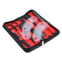 1 Набор высококачественных бритв для бровей, гребень для бровей, ножницы, набор, подходит для профессионального или домашнего использования, подарок