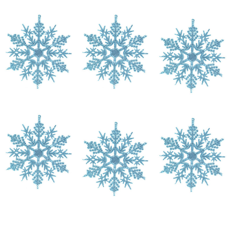 6pc Christmas Decoration Snowflakes 10cm Classic Snowflake Ornaments Christmas Tree Hanging new year Home Decor #4n14 (13)