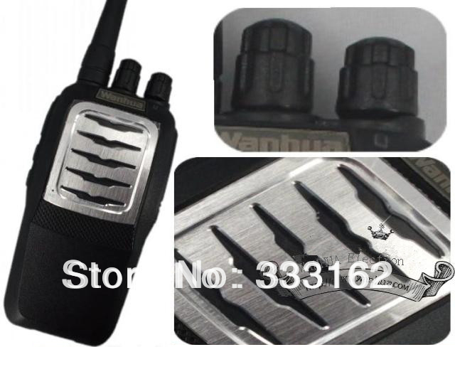 WH66 Free Shipping  two way radio/transceiver/uhf/walkie talkie with FM Radio,High/Low Power Switchable, TOT,Voice Prompt
