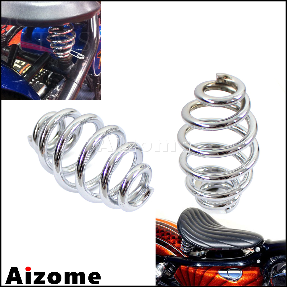 Color : Chrome 1 Pair Seat Springs 3 Steel Solo Motorcycle Seat Springs for Custom Chopper Bobber Softail