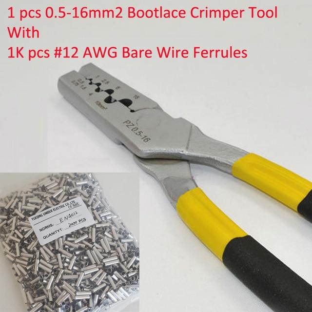 PZ0.5 16 0,5 16mm2 Crimpzange Schnürsenkel Ferrule Crimper und 1 ...