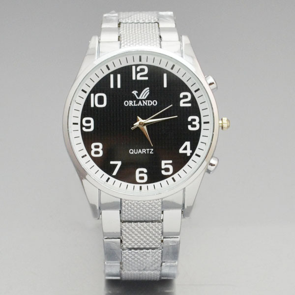 Watch-men Orlando Men Watch Wristwatch Business Stainless Steel Man Watch Big Dial Watches zegarek meski reloj mujer 2018