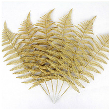 10 pcs 50cmX15cm Christmas decoration gift gold Christmas tree branches foliage Christmas tree decoration accessories все цены