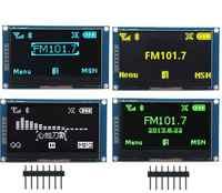 """2.42 """"Polegada 12864 128*64 módulo de exibição oled iic i2c spi série branco/azul/verde/amarelo tela lcd para c51 stm32 ssd1309"""