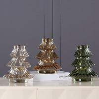 Spray painted amber with gilt iron hung Glass for Christmas tree Lanterns Candle Holders Wedding Decor