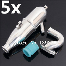 Wholesale 5Packs Lot HSP Aluminum Exhaust Pipe 102009 02124 Car Upgrade Parts Accessories 1 10 Upgrades