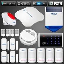 PSTN Sistema De Alarma WIFI APP Control Inalámbrico Casa de Seguridad del Sistema de Alarma con Sirena Solar Inalámbrica/Sirena Que Destella/Touch teclado