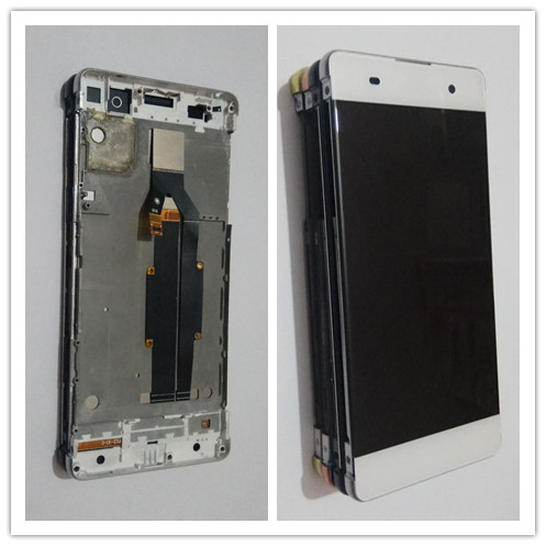 JIEYER 5.0 For Sony Xperia XA LCD Display Touch Screen Digitizer Assembly F3111 F3113 F3115 Pantalla Replacement +Frame