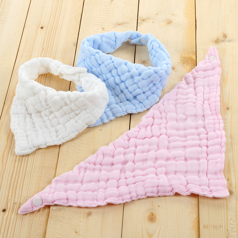 1PCS Newborn Baby Bibs New Arrival Infant Cotton Soft Bib Bandana Baberos Bibs For Kids Girls Boys Triangle Feeling Bib Burp Bab