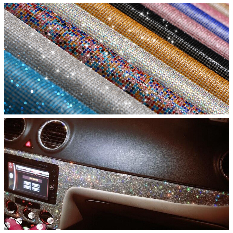 Car ornament Stickers Accessories Diamond Styling Decorative Logo/Center Console/Wheel/Outlet/Knob/Gear Sticker Rhinestones