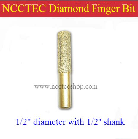 1/2'' straight diamond vacuum Brazing brazed router finger bit with 1/2 Shank FREE shipping | marble granite continental knife no 13 vacuum brazed diamond router bits with 1 2 shank for stone router cutter for granite